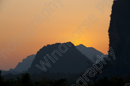 Vang Vieng, Sunset 